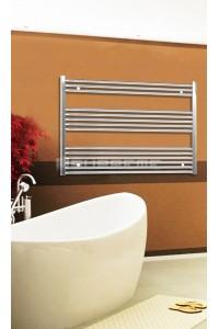 Electric Towel Radiator 1200mm Wide 800mm High Chrome Flat