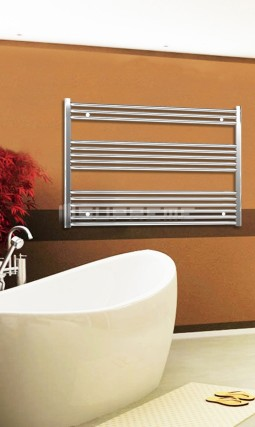 Electric Towel Radiator 1200mm Wide 800mm High Chrome Flat