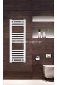 Electric Towel Radiator 300mm Wide 800mm High White Flat