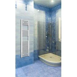 Electric Towel Radiator 300mm Wide 1200mm High White Flat