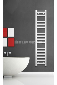 Electric Towel Radiator 300mm Wide 1500mm High White Flat