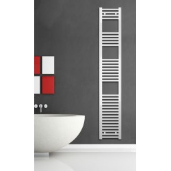 Electric Towel Radiator 300mm Wide 1760mm High White Flat