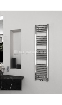 300mm Wide 1200mm High Multi Connection Chrome Towel Radiator