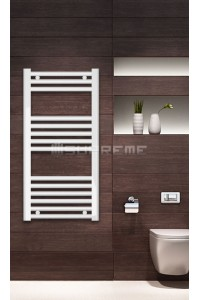 Electric Towel Radiator 400mm Wide 800mm High White Flat