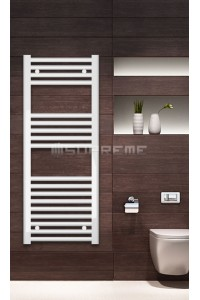 Electric Towel Radiator 400mm Wide 1000mm High White Flat