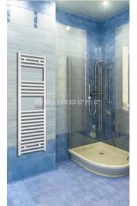 400mm Wide 1200mm High White Flat Towel Radiator