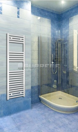 Electric Towel Radiator 400mm Wide 1200mm High White Flat