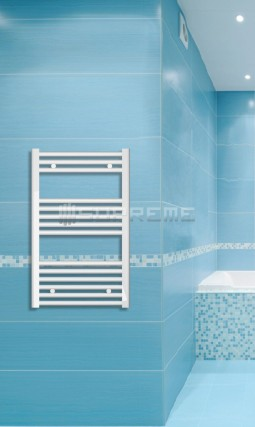 Electric Towel Radiator 500mm Wide 800mm High White Flat