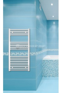 Electric Towel Radiator 500mm Wide 1000mm High White Flat