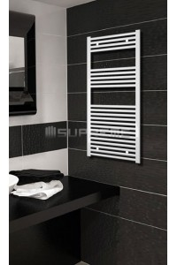 Electric Towel Radiator 500mm Wide 1200mm High White Flat