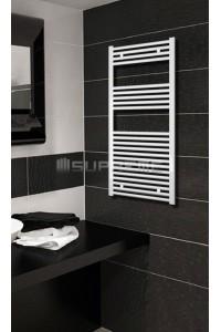 500mm Wide 1200mm High White Flat Towel Radiator
