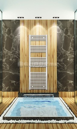 Electric Towel Radiator 500mm Wide 1500mm High White Flat