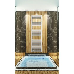 Electric Towel Radiator 500mm Wide 1760mm High White Flat