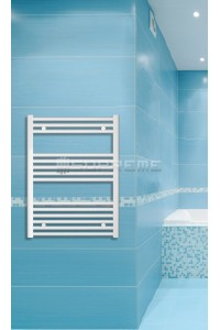 600mm Wide 800mm High White Flat Towel Radiator