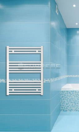 Electric Towel Radiator 600mm Wide 800mm High White Flat