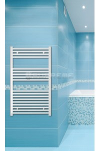 600mm Wide 1000mm High White Flat Towel Radiator