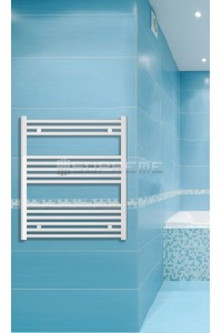 700mm Wide 800mm High White Flat Towel Radiator