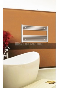 800mm Wide 600mm High White Flat Towel Radiator