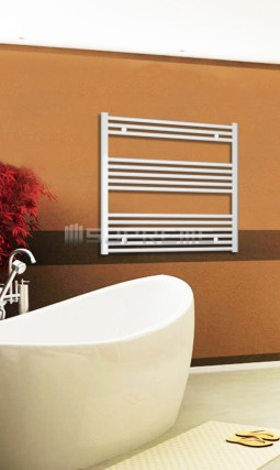Electric Towel Radiator 800mm Wide 800mm High White Flat
