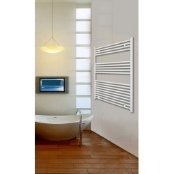 Electric Towel Radiator 800mm Wide 1000mm High White Flat
