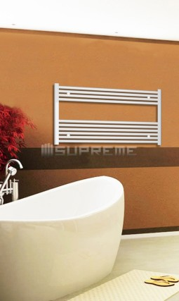 Electric Towel Radiator 1000mm Wide 600mm High White Flat