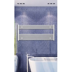 Electric Towel Radiator 1200mm Wide 600mm High White Flat