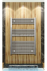 Electric Towel Radiator 700mm Wide 1000mm High Chrome Flat