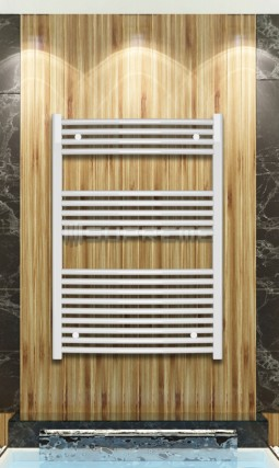 700mm Wide 1000mm High White Flat Towel Radiator