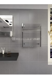 600mm Wide 700mm High Multi Connection Chrome Towel Radiator