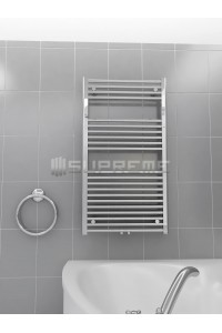 600mm Wide 1100mm High Multi Connection Chrome Towel Radiator
