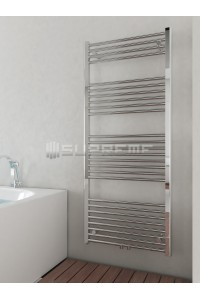 600mm Wide 1400mm High Multi Connection Chrome Towel Radiator