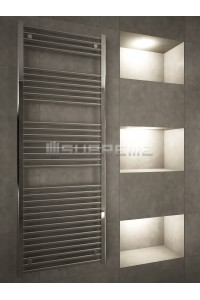 600mm Wide 1600mm High Middle Connection Chrome Towel Radiator