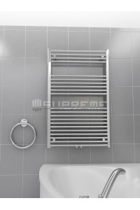 700mm Wide 1100mm High Middle Connection Chrome Towel Radiator