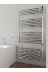 700mm Wide 1400mm High Multi Connection Chrome Towel Radiator