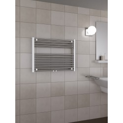 800mm Wide 600mm High Middle Connection Chrome Towel Radiator