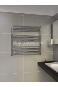 800mm Wide 800mm High Multi Connection Chrome Towel Radiator