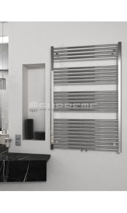 800mm Wide 1200mm High Multi Connection Chrome Towel Radiator