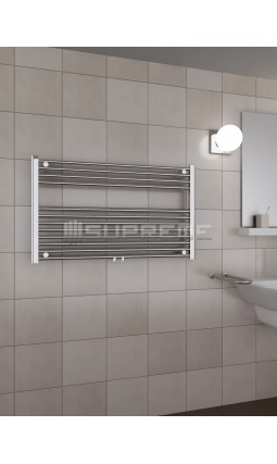1000mm Wide 600mm High Middle Connection Chrome Towel Radiator