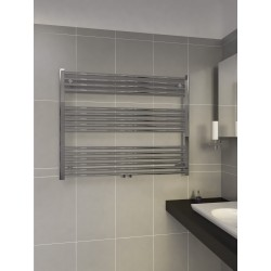 1000mm Wide 800mm High Middle Connection Chrome Towel Radiator