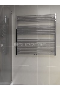 1000mm Wide 1000mm High Middle Connection Chrome Towel Radiator