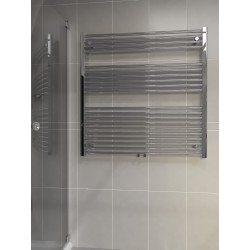 1000mm Wide 1000mm High Multi Connection Chrome Towel Radiator