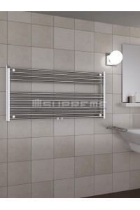 1200mm Wide 600mm High Middle Connection Chrome Towel Radiator