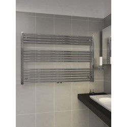 1200mm Wide 800mm High Middle Connection Chrome Towel Radiator