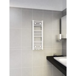300mm Wide 800mm High Multi Connection White Towel Radiator
