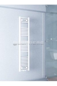300mm Wide 1500mm High Middle Connection White Towel Radiator