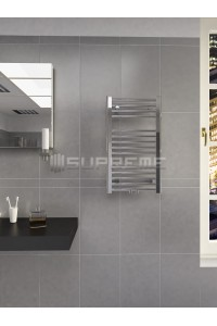 400mm Wide 700mm High Multi Connection Chrome Towel Radiator