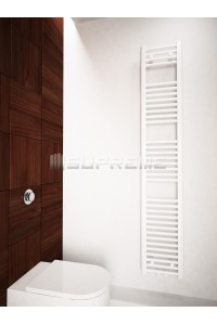 300mm Wide 1700mm High Middle Connection White Towel Radiator