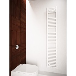 300mm Wide 1700mm High Multi Connection White Towel Radiator