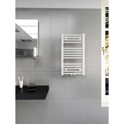 400mm Wide 700mm High Middle Connection White Towel Radiator