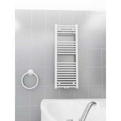 400mm Wide 1100mm High Multi Connection White Towel Radiator